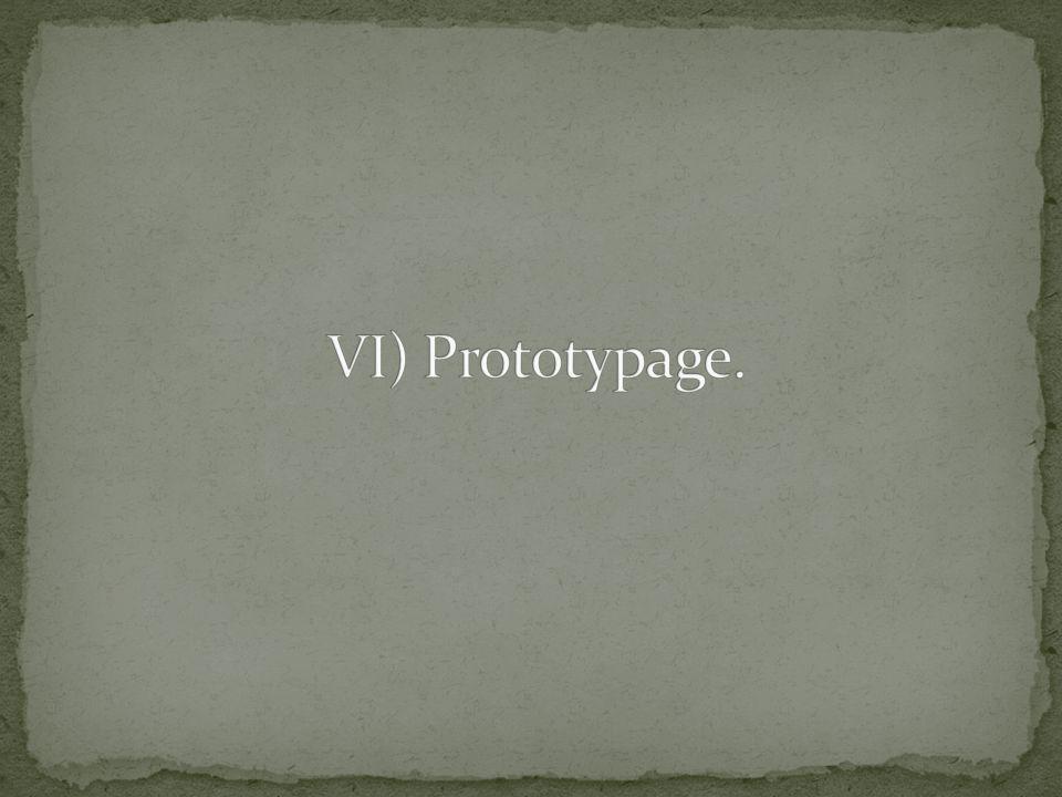 VI) Prototypage.