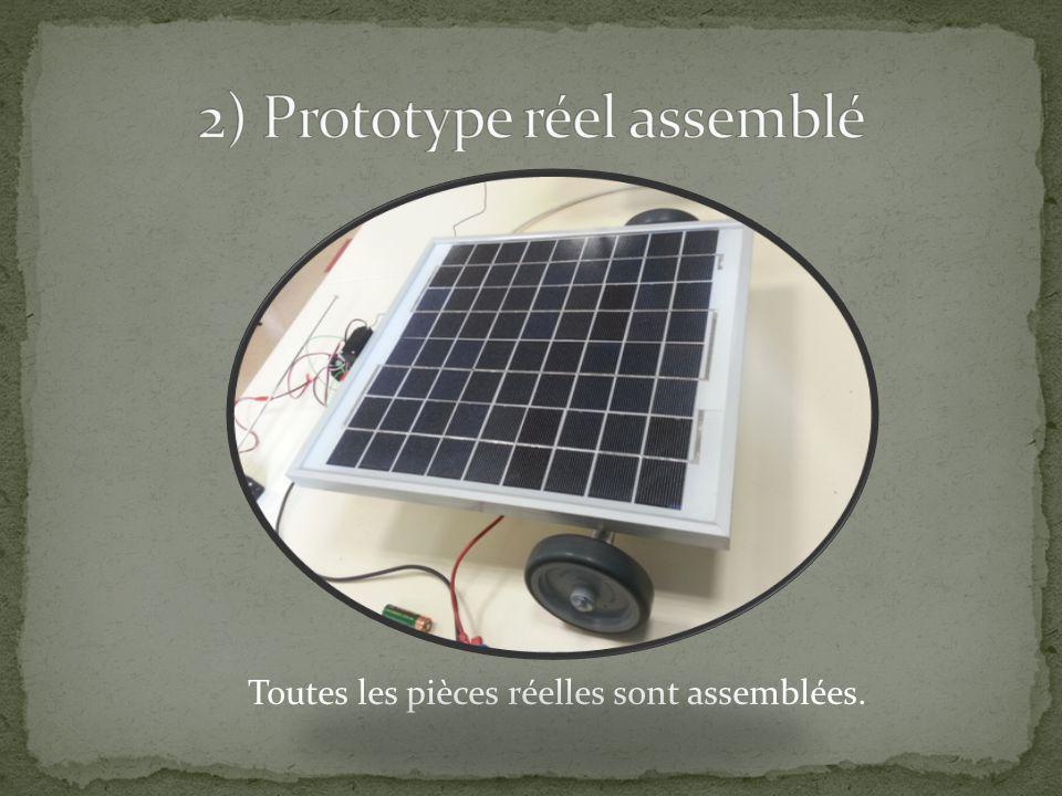 2) Prototype réel assemblé