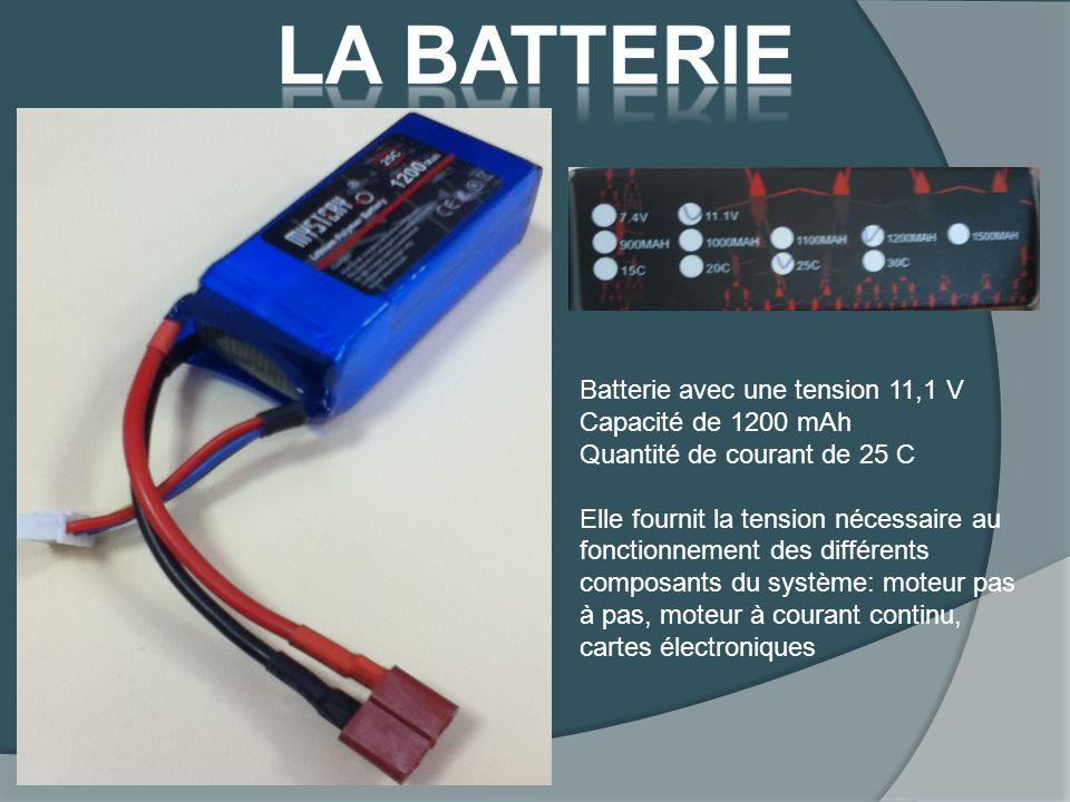 La batterie Batterie avec une tension 11,1 V Capacité de 1200 mAh