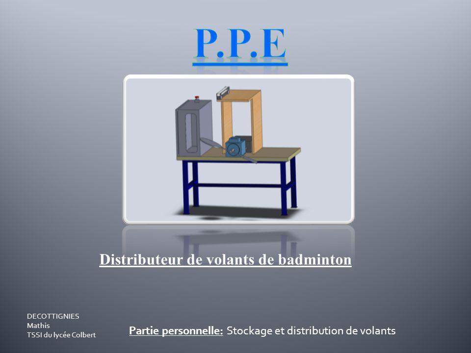P.P.E Distributeur de volants de badminton