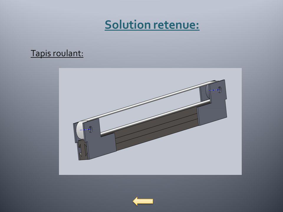 Solution retenue: Tapis roulant:
