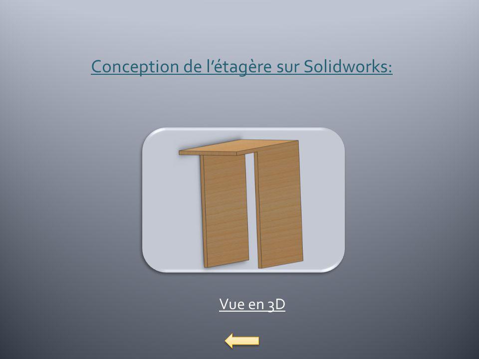 Conception de l'étagère sur Solidworks: