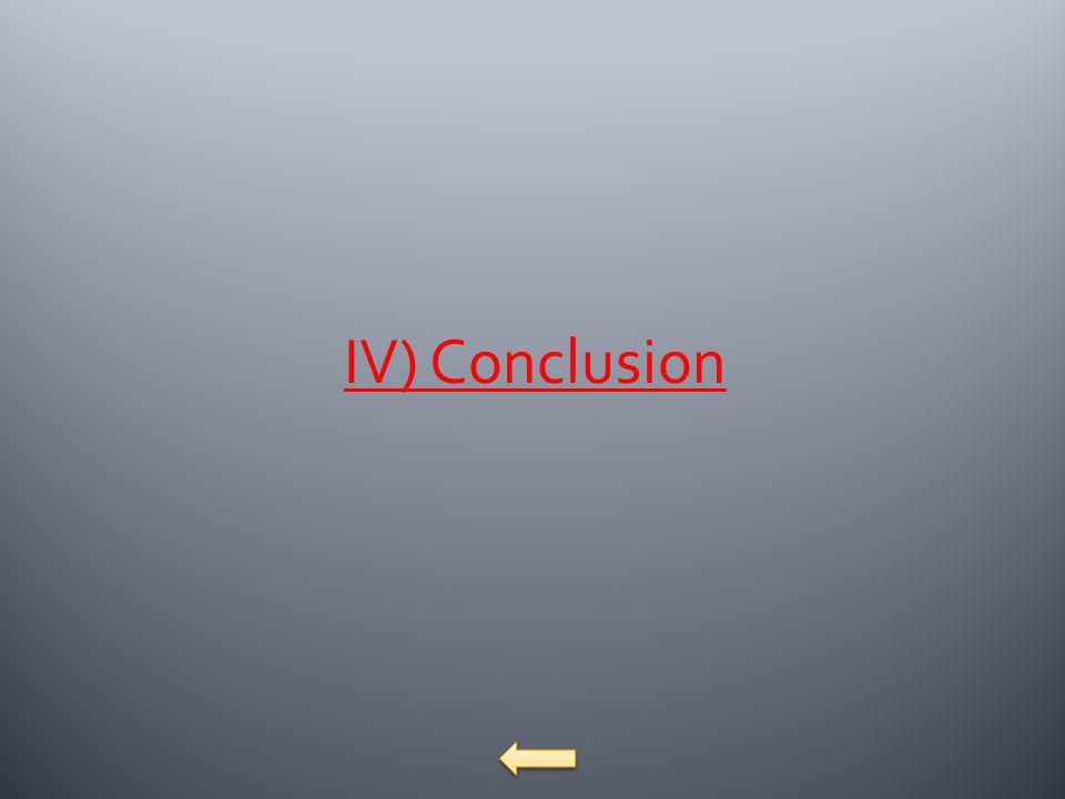 IV) Conclusion