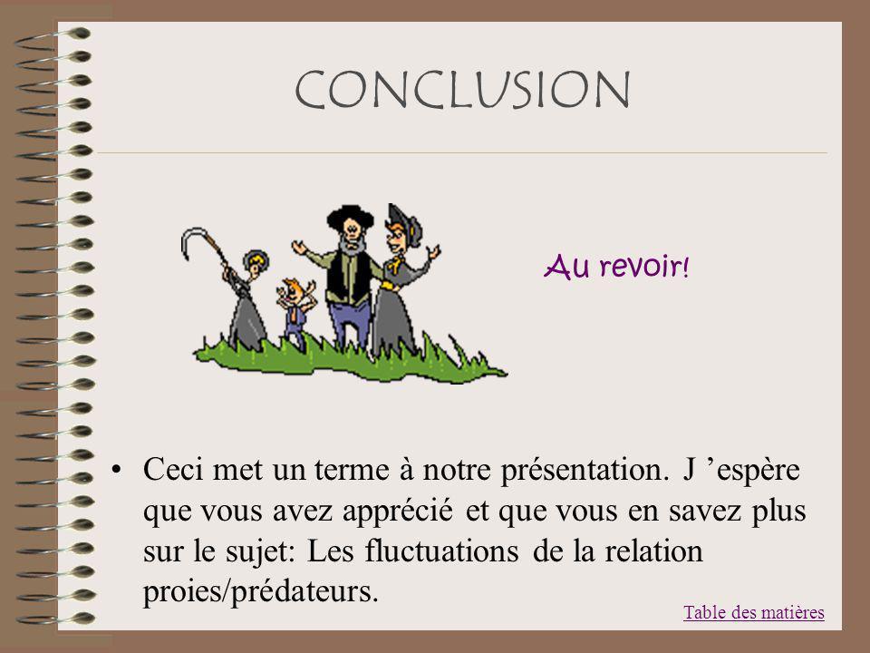 CONCLUSION Au revoir!