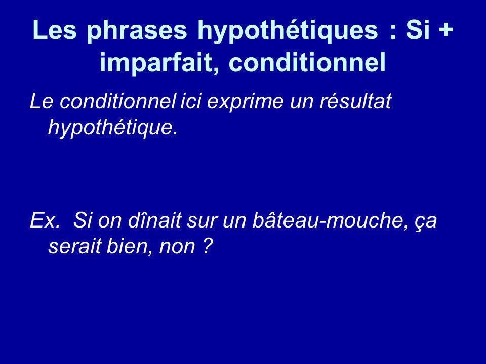 Les phrases hypothétiques : Si + imparfait, conditionnel