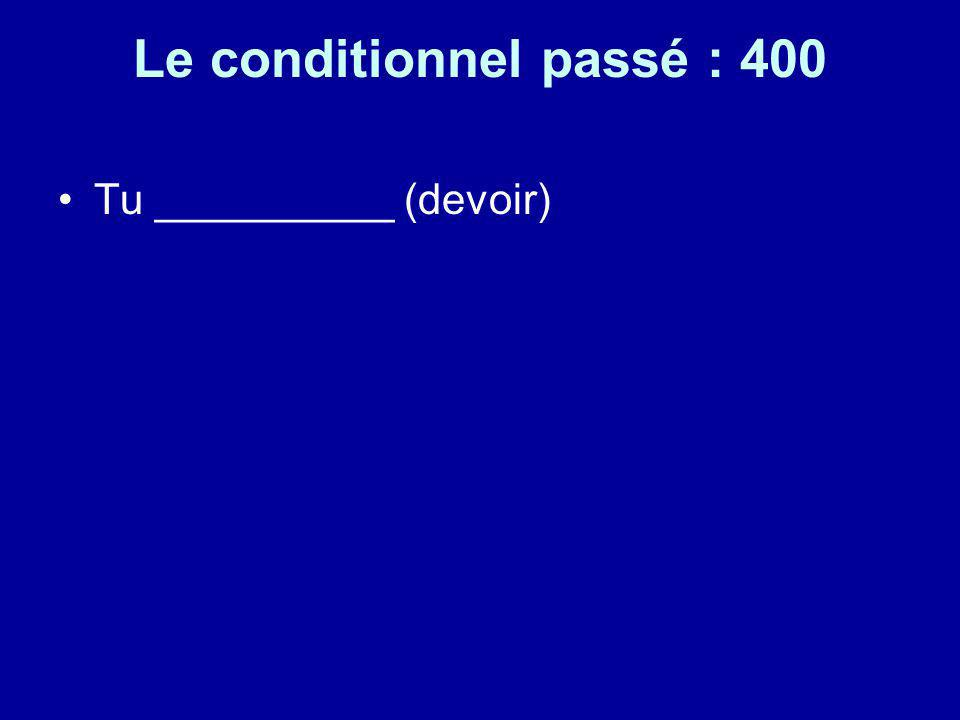Le conditionnel passé : 400
