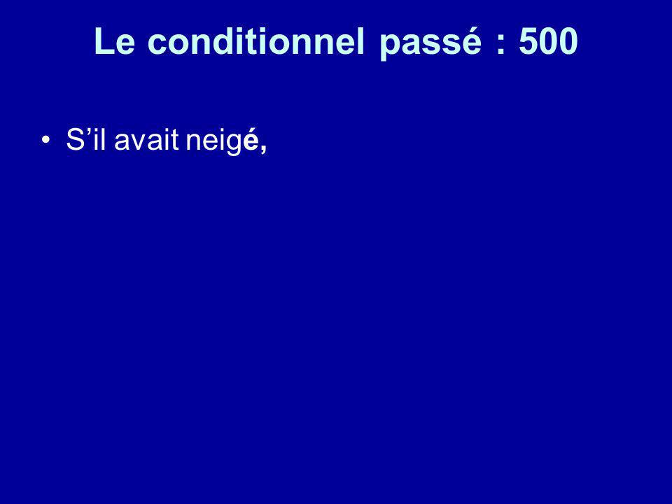 Le conditionnel passé : 500