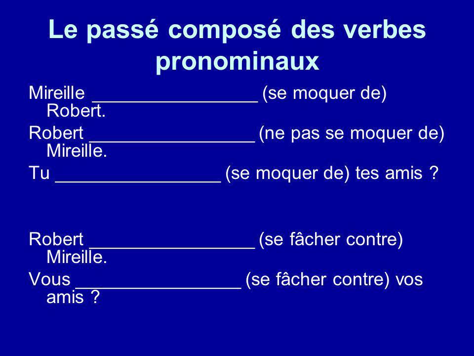 Le passé composé des verbes pronominaux