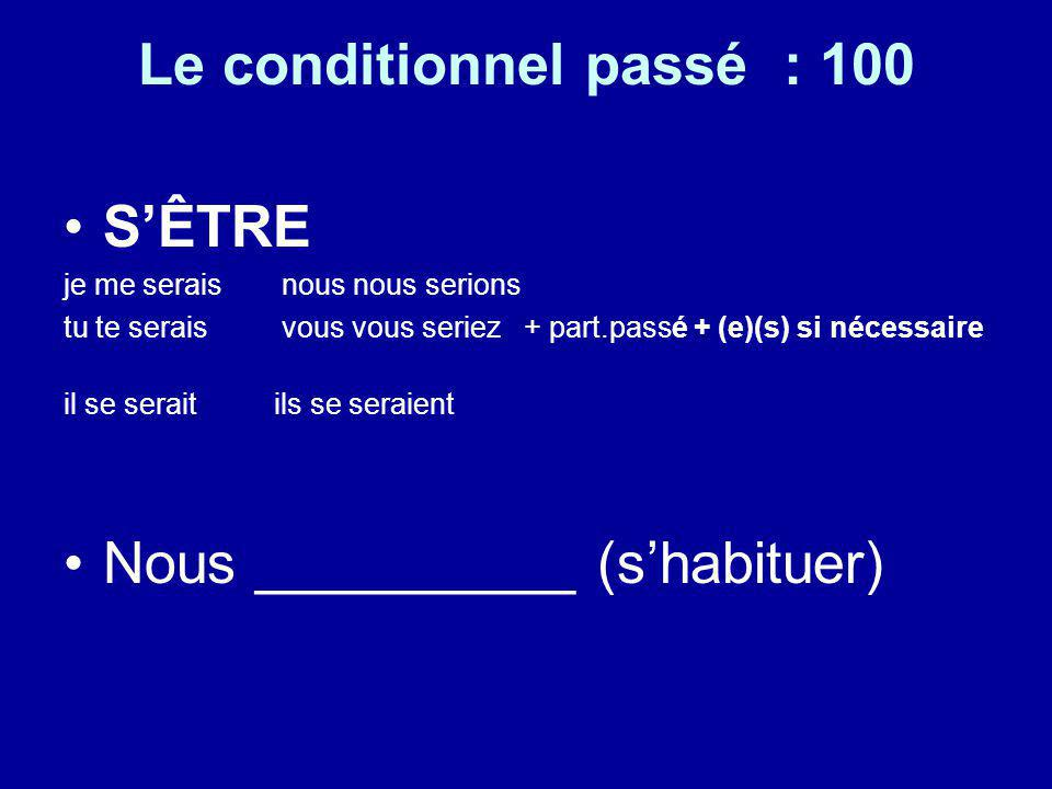 Le conditionnel passé : 100