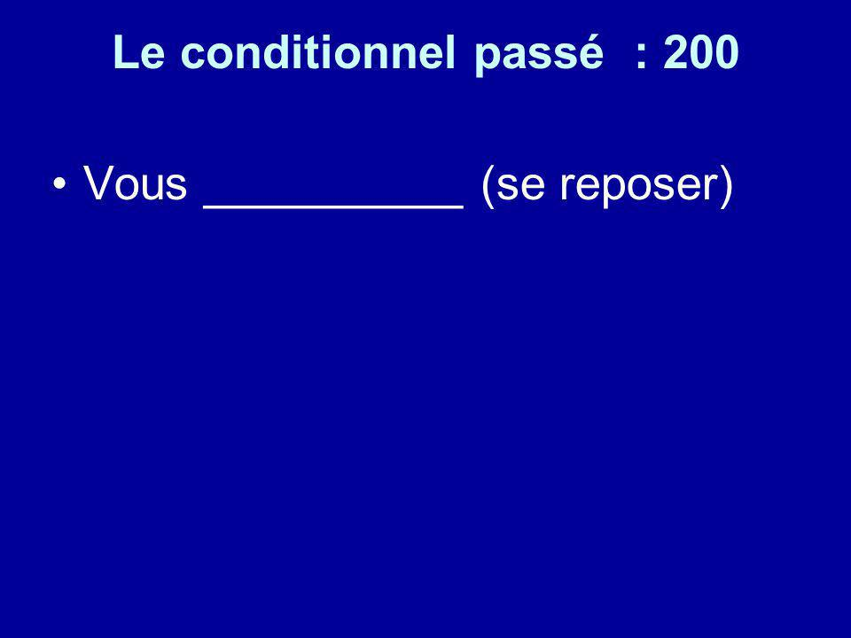 Le conditionnel passé : 200