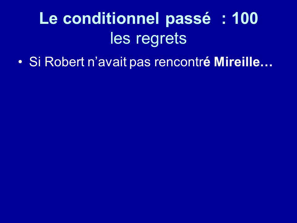 Le conditionnel passé : 100 les regrets