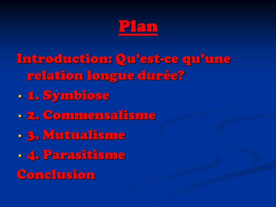 Plan Introduction: Qu'est-ce qu'une relation longue durée 1. Symbiose