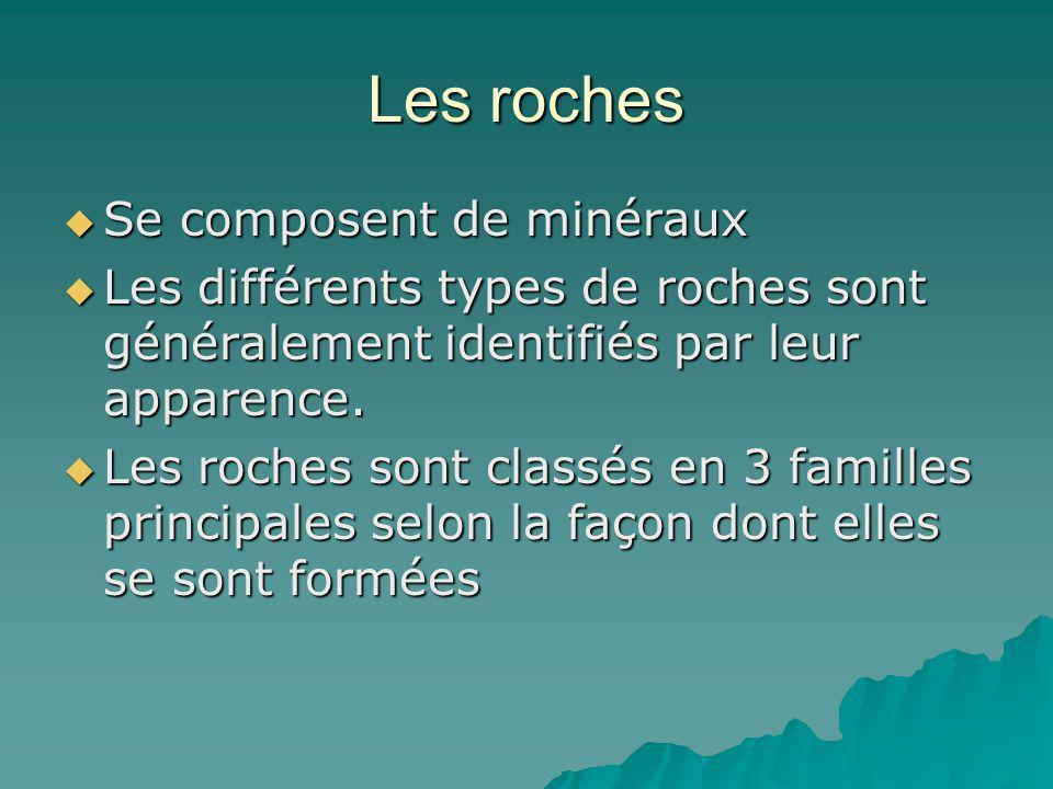 Les roches Se composent de minéraux