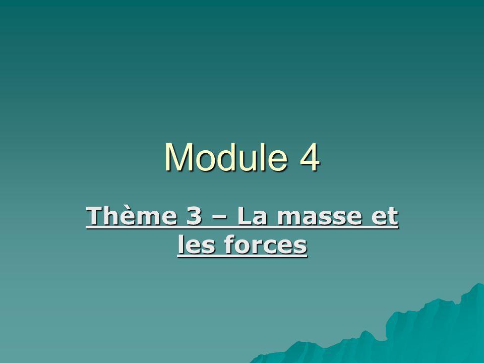 Thème 3 – La masse et les forces