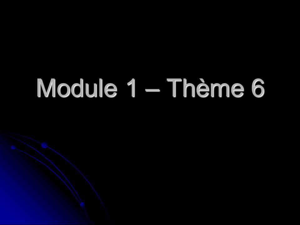Module 1 – Thème 6