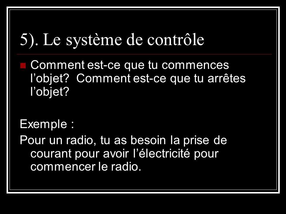 5). Le système de contrôle