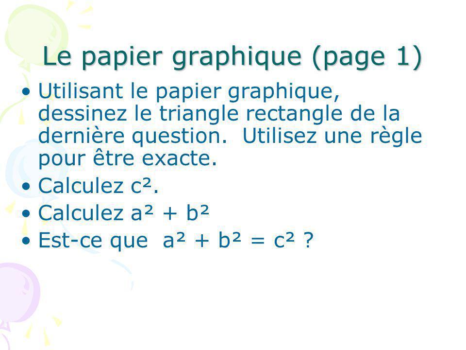 Le papier graphique (page 1)