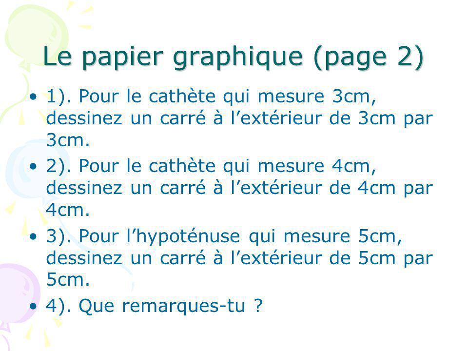Le papier graphique (page 2)