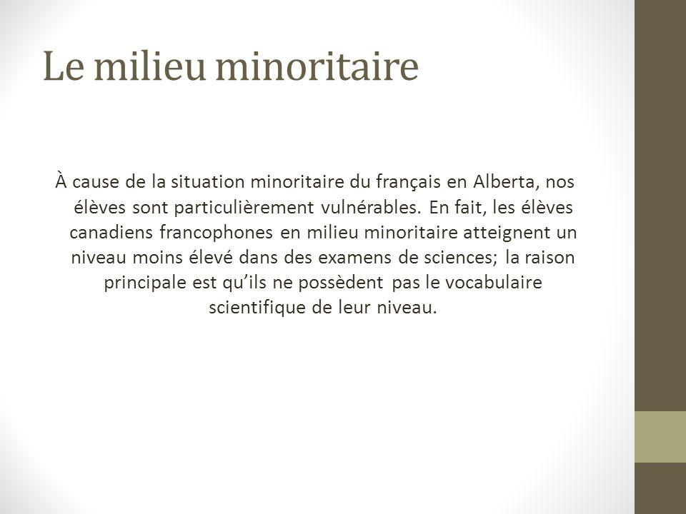 Le milieu minoritaire