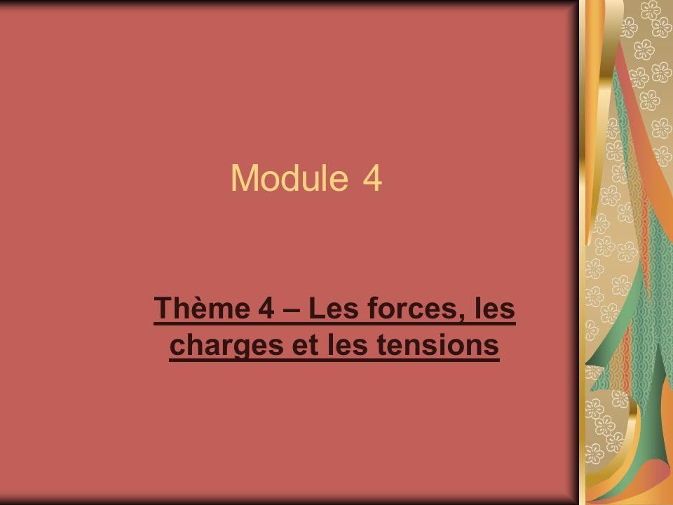 Thème 4 – Les forces, les charges et les tensions