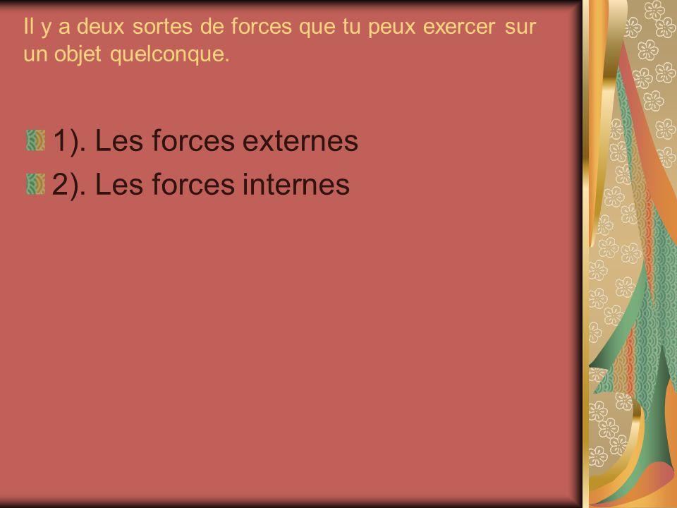 1). Les forces externes 2). Les forces internes