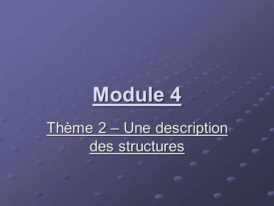 Thème 2 – Une description des structures