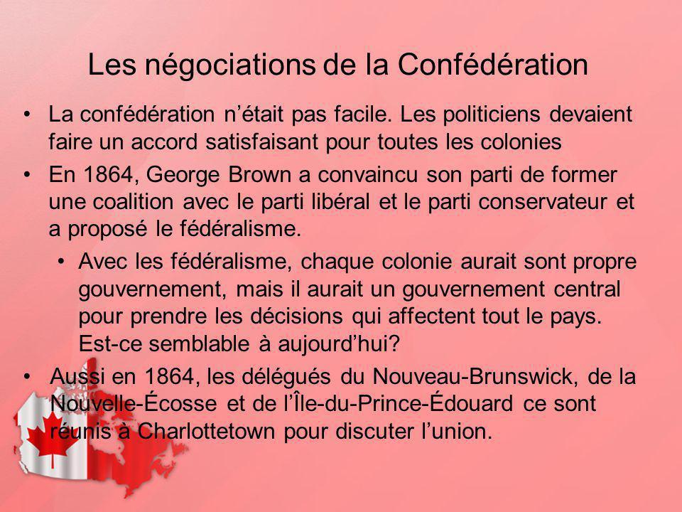 Les négociations de la Confédération