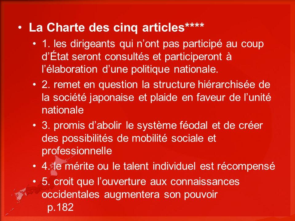 La Charte des cinq articles****