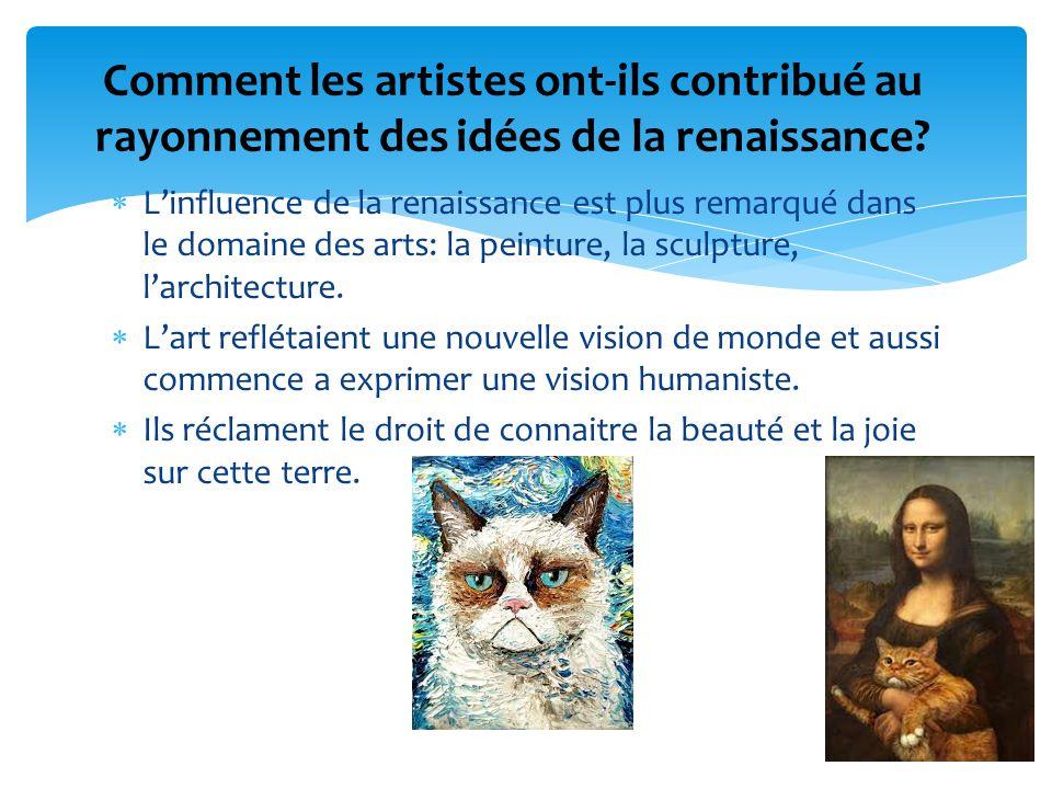 Comment les artistes ont-ils contribué au rayonnement des idées de la renaissance