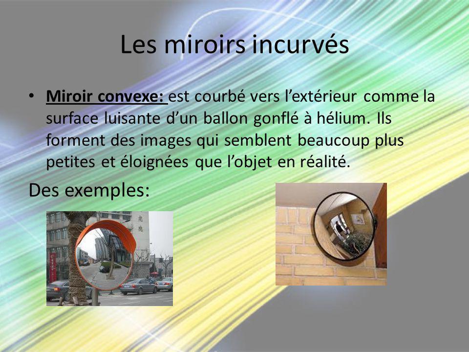 Les miroirs incurvés Des exemples: