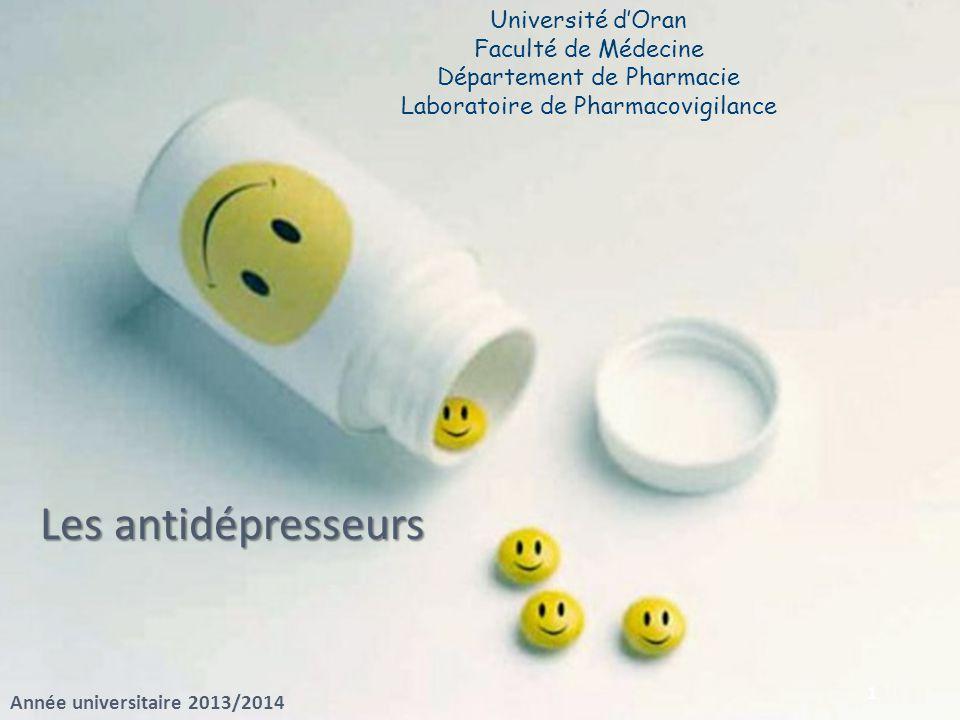 Les antidépresseurs Université d'Oran Faculté de Médecine