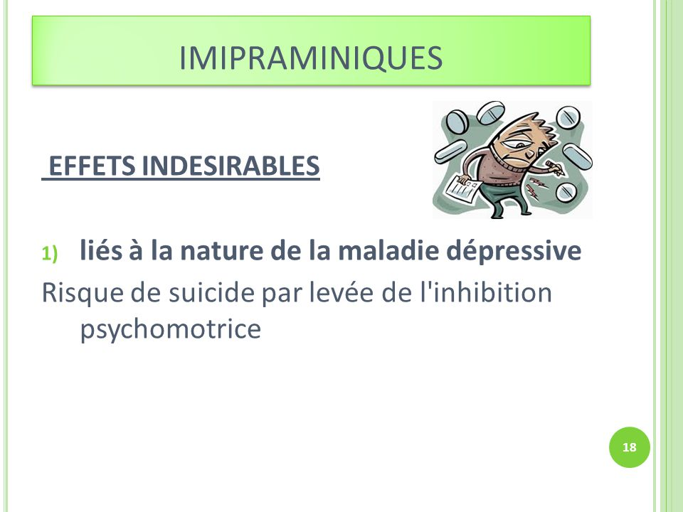 imipraminiques EFFETS INDESIRABLES