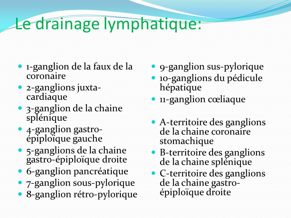 Le drainage lymphatique:
