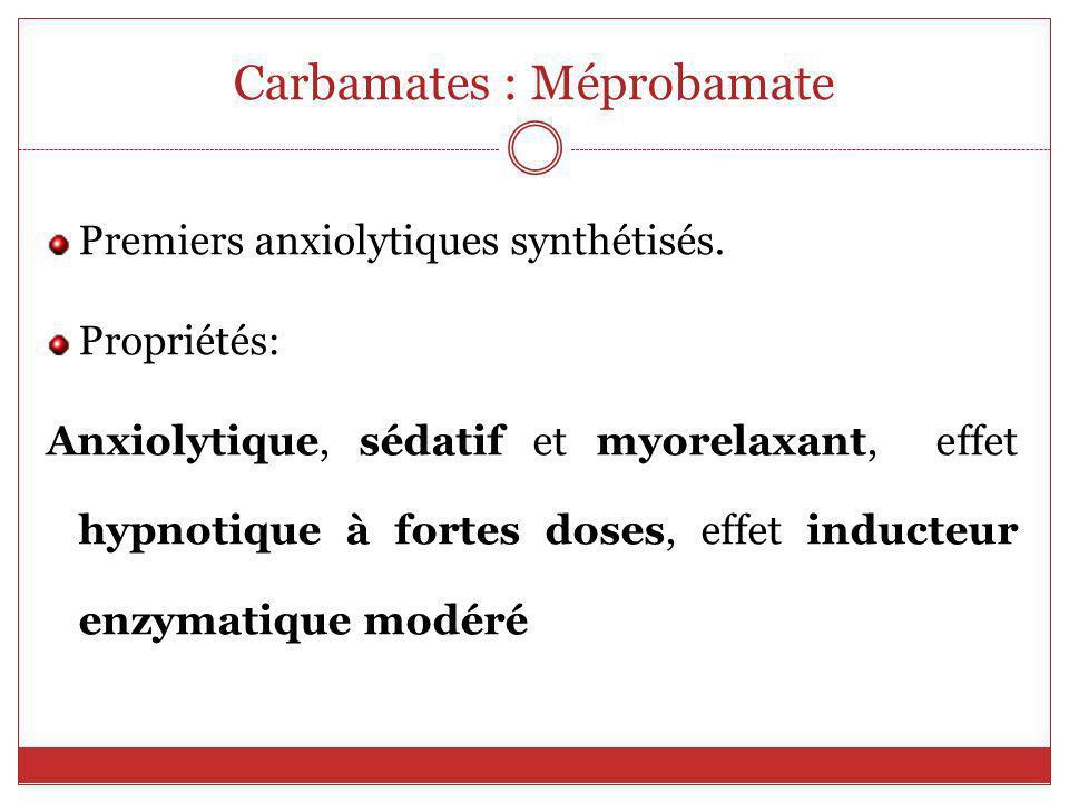 Carbamates : Méprobamate