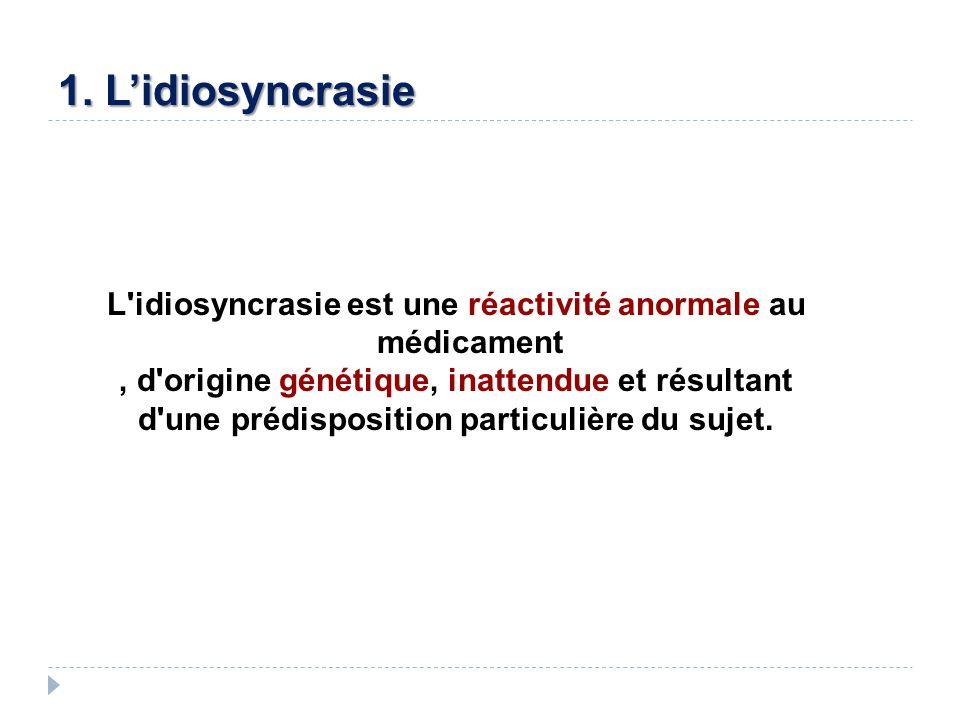 1. L'idiosyncrasie