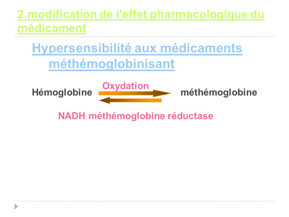 2.modification de l effet pharmacologique du médicament