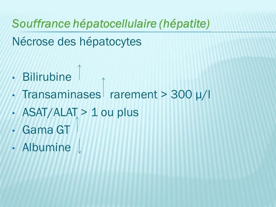 Souffrance hépatocellulaire (hépatite)