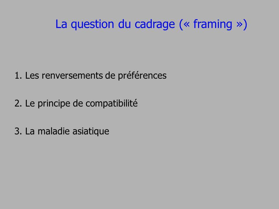 La question du cadrage (« framing »)