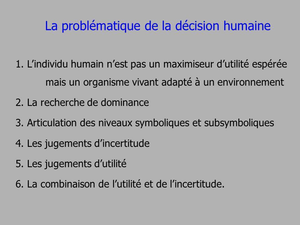 La problématique de la décision humaine