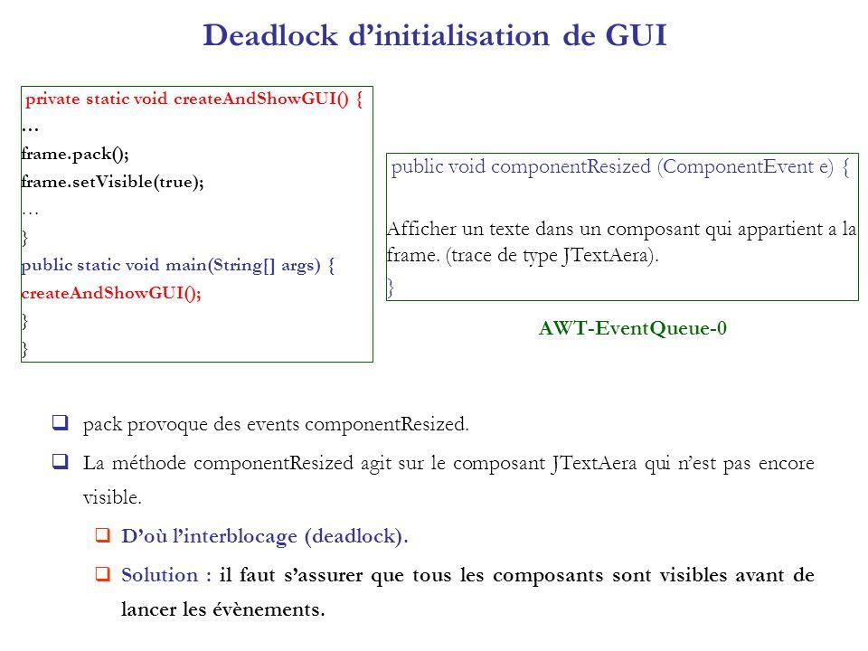 Deadlock d'initialisation de GUI