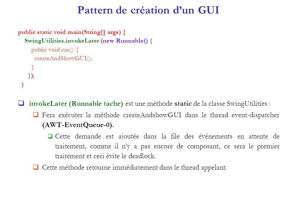 Pattern de création d'un GUI