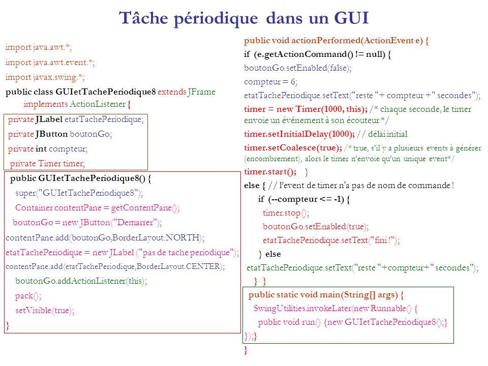 Tâche périodique dans un GUI