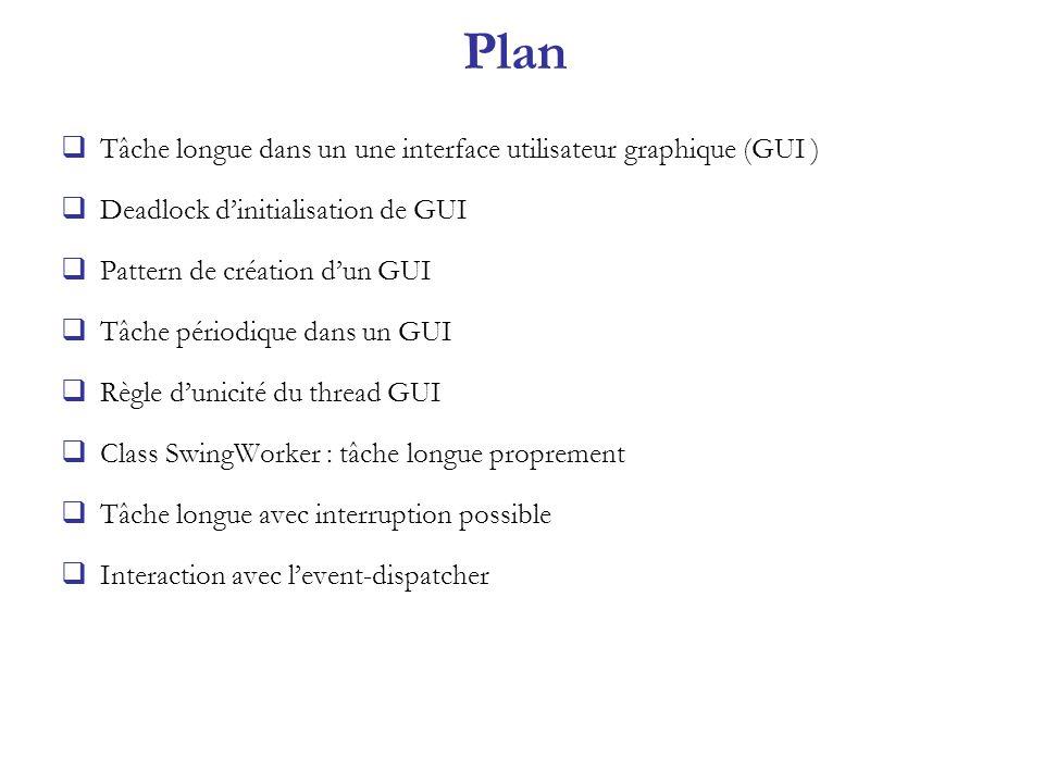 Plan Tâche longue dans un une interface utilisateur graphique (GUI )