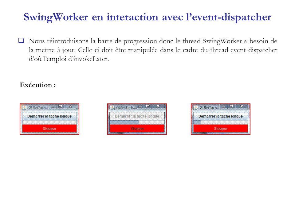SwingWorker en interaction avec l'event-dispatcher