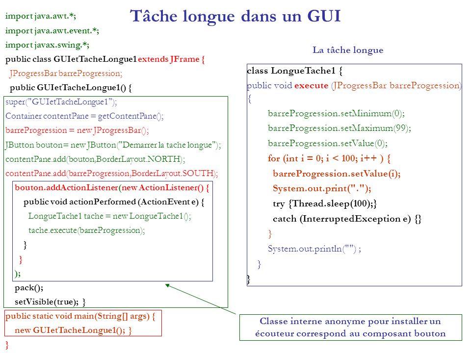 Tâche longue dans un GUI