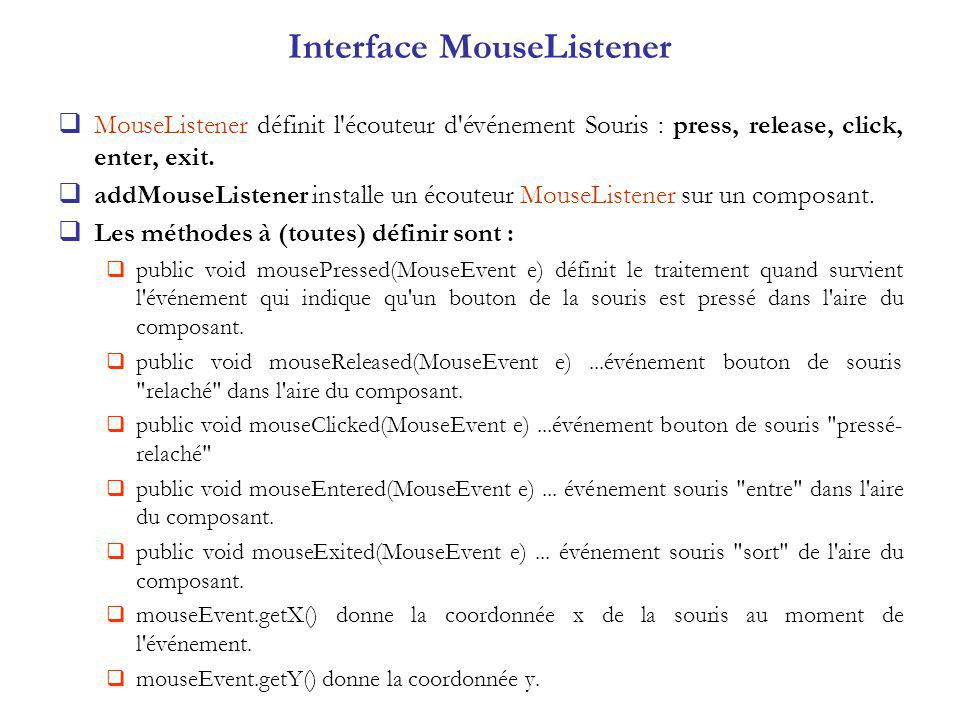Interface MouseListener