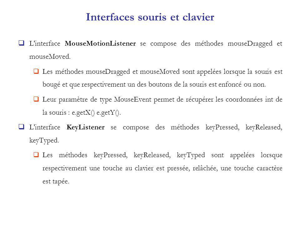 Interfaces souris et clavier
