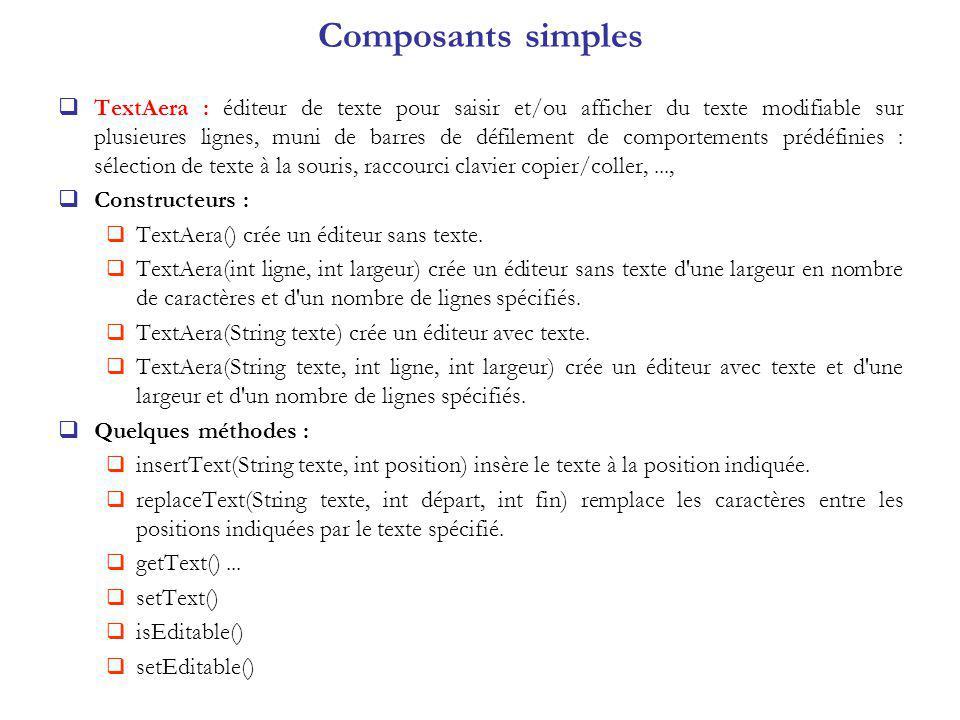Composants simples