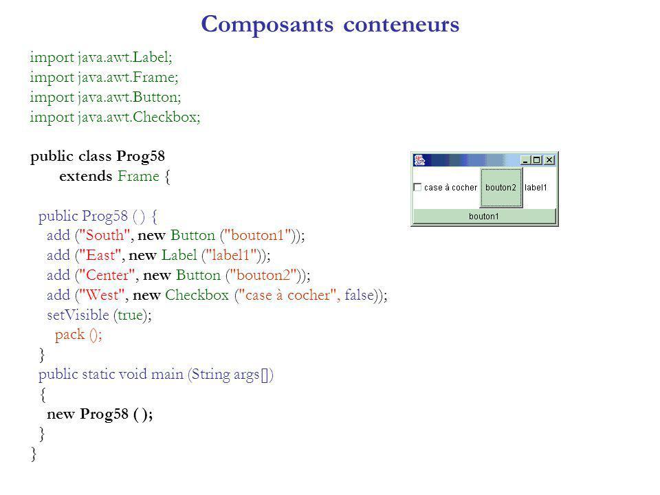Composants conteneurs