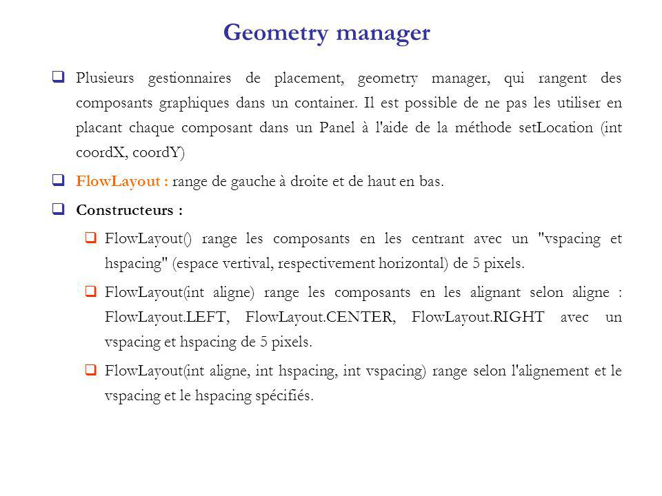 Geometry manager